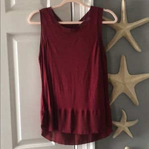 Loft burgundy sleeveless top